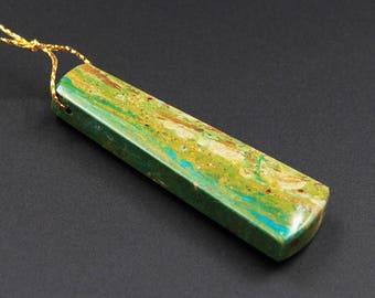 Drilled Natural Peruvian Blue Opal Pendant Hand Cut Blue Opal Trapezoid Pendant P517