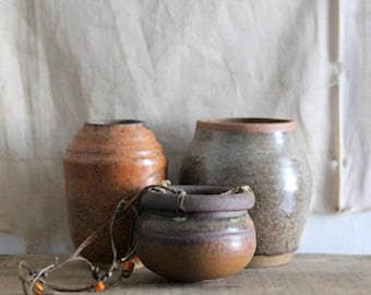 Vintage Collection Of Small Studio Pottery Vases