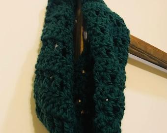 Crochet Green Neck Scarf