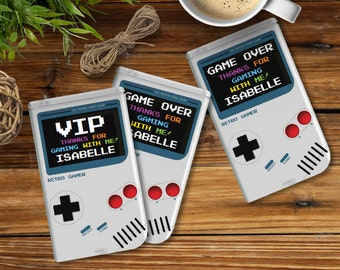 Video Game Party Favor Tag, Gameboy,Video Game Birthday,Video Game Thank You Tag,Video Game Gift Tag | INSTANT Download DIY Printable PDF