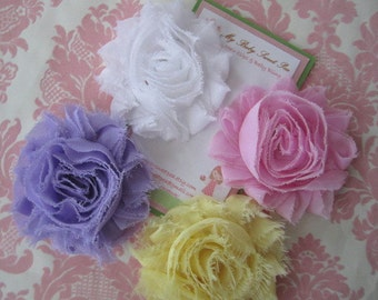Girl hair clips - flower hair clips - girl barrettes