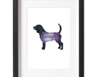 Galaxy Beagle Wall Art