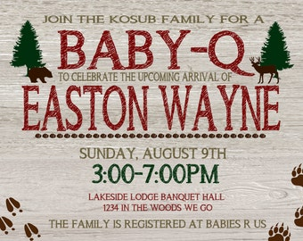 Woodland/Rustic Baby shower
