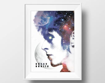 David Bowie 'Space Oddity' | Graphic Art Print | Poster | Wall Art | A4 & A3