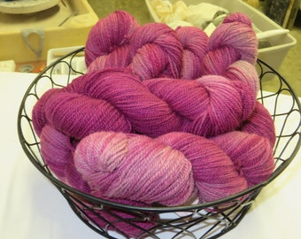 Raspberry Mill Spun Yarn
