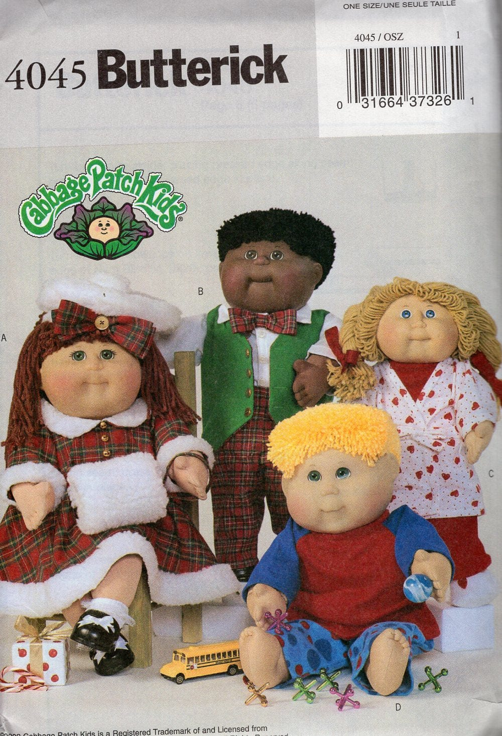 Butterick 4045 Sewing Pattern Free Us Ship CPK Cabbage Patch Kids ...