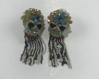 Multi Color Skull Earrings