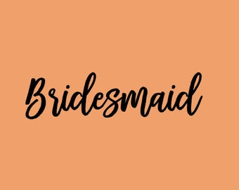 Free Shipping!!! Bride decal