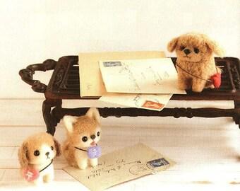 Cute Felt Animals, Dolls, Accessories Wool Needle Felting Craft Ebook / PDF Patterns