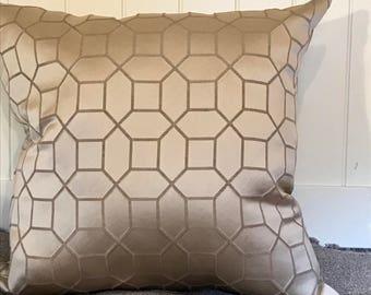 Taupe Geometric Throw Pillows Taupe Pillows