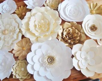 DIY Paper Flower Backdrop - Set of 30 | Paper Flowers | Paper Flower Wall | Paper Flower Backdrop | Paper Flower Wedding