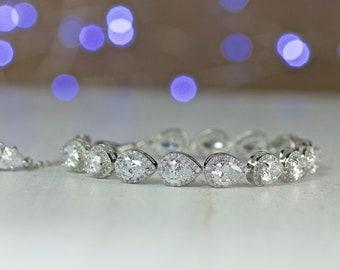 Bridal Bracelet, Crystal Bridal Jewelry, Teardrop Wedding Bracelet, Wedding Jewelry, TAMARA