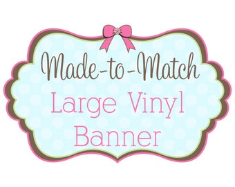 Large Vinyl Banner for Craft Shows, Events and More