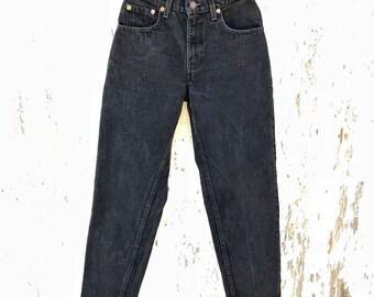 Black LEVIS Jeans 25 Waist Vintage Mom Jeans Levi's 550