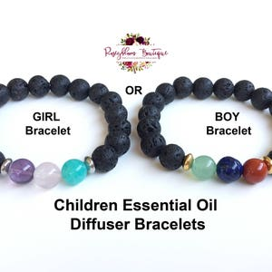 Kids Gemstone Bracelet-Kids Aromatherapy-Kids Diffuser-Kids Lava Bracelet-Children Lava-Girl Boy Gemstone-Essential Oil Diffuser Bracelet