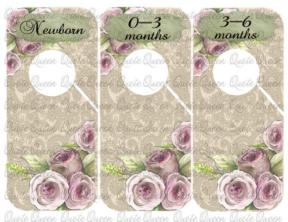 9 Roses Closet Dividers Baby Clothes Dividers. Nursery Closet