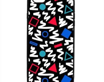 Nineties 90's Print Pattern Phone Case Samsung Galaxy S5 S6 S7 S8 S9 Note Edge iPhone 4 4S 5 5S 5C 6 6S 7 7S 8 8S X SE Plus