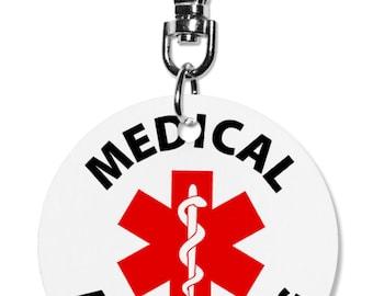 Medical Alert Dog Service Dog Animal 2 inch Aluminum Dog Tag