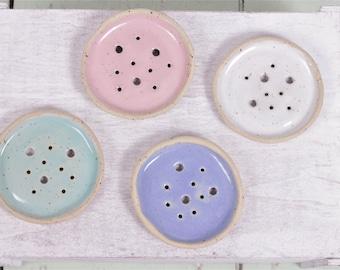Round soap dish mint-small soap dish mint-soap dish mint dotted-rustic soap dish