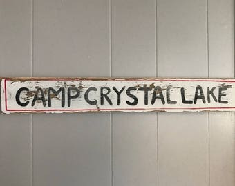 Camp Crystal Lake sign - Friday the 13th sign