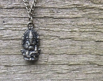 Ganesh Pendant Necklace, Boho Gypsy Necklace