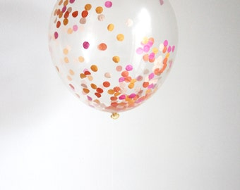 Confetti Filled Balloon- Bright