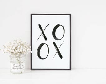 XOXO, Hugs and Kisses, Valentine's Day Decor, Nursery Decor, Gender Neutral Decor, Wall Art, Digital Download