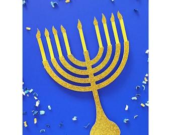 Hanukkah. Chanukah. Festival of Lights. Candles. Cake Topper. Hanukkah Cake Topper. Centerpiece. Hanukkah Decoration