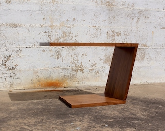 Cee Vee Cantilevered Walnut Table