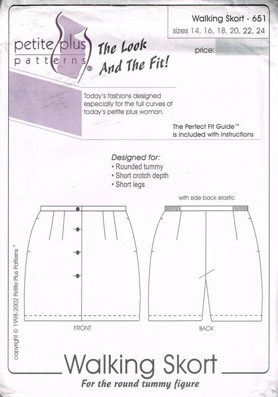 Size 14-24 Misses\' Petite Plus Size Skort Sewing Pattern