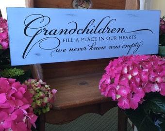 Grandparents Gift - Gift for Grandmother - Mother's Day Gift - Gift for Grandma - Grandmothers Gift - Grandchildren Sign - Gift for Granddad