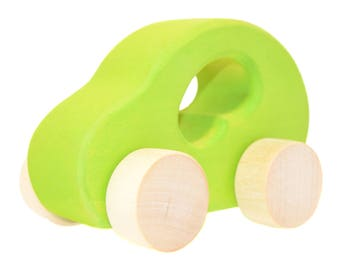 Wooden toy car - Personalized Toy Car - Organic and Eco Friendly - Baby gift - Waldorf - Montessori - Wooden Toys - Baby Birthday Present
