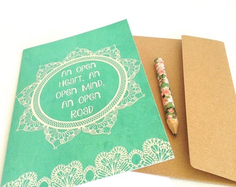 greeting card, encouragement card, inspirational cards, bon voyage card greeting, Openness