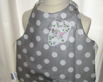 "Cotton bib/apron coated ""Dancers"" - 18/24 months"