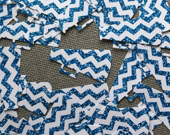 25 Cheer Chevron Megaphone Die Cuts