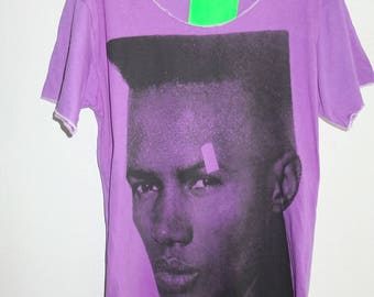 80's New Wave Grape Purple T Shirt