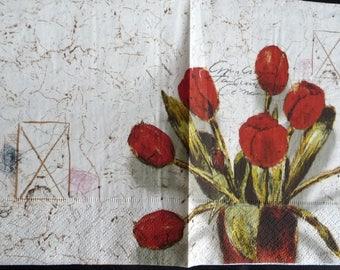 Bouquet of tulips 2 paper towel