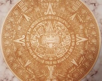Detailed Mayan Calendar Crystal Grid - Divination