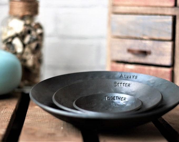 Set of Three Iron Bowls