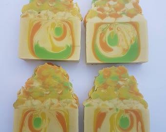 Mad mango blossom artisan large soap bar