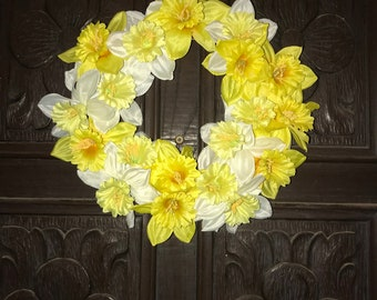 Yellow Blossom Floral Wreath