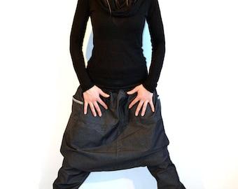 sarouel, pants, jeans black