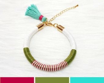 Summer Bracelet with Tassel, Summer Jewelry, Hippie Bracelet for Women, Tassel Bracelet, Colorful Bracelet for Girls, Bohemian Jewelry