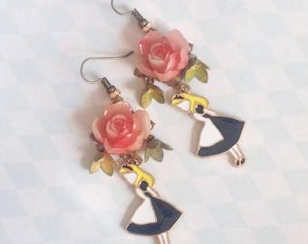 Fancy Alice in the Wonderland earrings