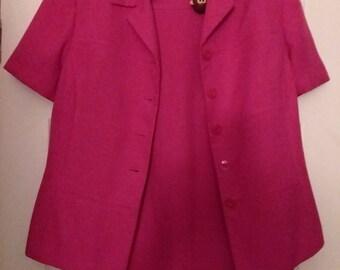 Vintage 80's Power Suit Le Suit Hot Pink 2 pc Skirt Suit Vintage Suit Vintage Pink Suit