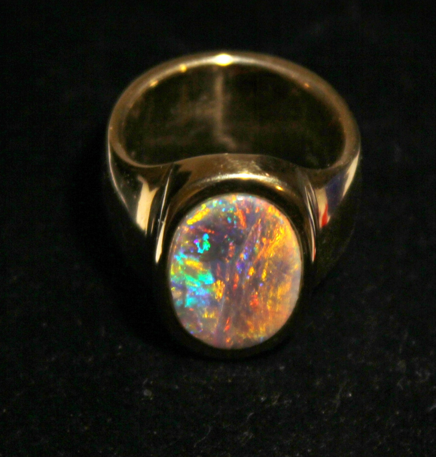 ring diamond rings opal black img