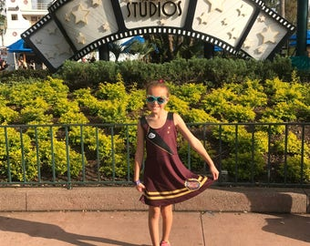 Hollywood Tower Hotel Castmember inspired Sleeveless Little Girl's Dress