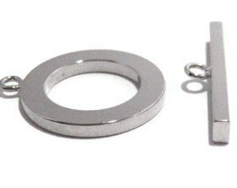 Large Toggle Clasp Set in Silver Tone. Solid.  30mm.  Contact us for other quantities.