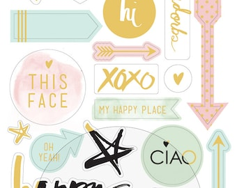 Heidi Swapp Minc Icons 26 Piece Stickers