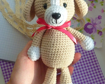Sale Knitted Crochet dog Doggy animal play toy for kid gift present